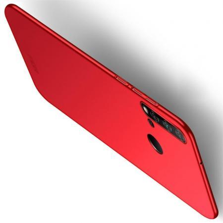 Ультратонкий Матовый Кейс Пластиковый Накладка Чехол для Huawei nova 5i / P20 lite 2019 Красный