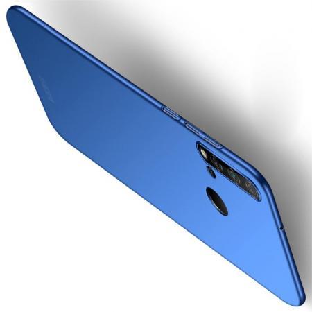 Ультратонкий Матовый Кейс Пластиковый Накладка Чехол для Huawei nova 5i / P20 lite 2019 Синий
