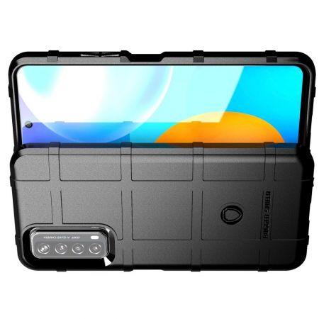 Матовый Кейс Накладка Чехол для Huawei P Smart 2021 Черный