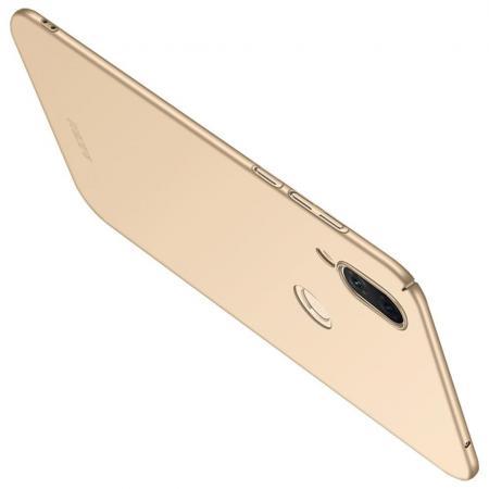 Ультратонкий Матовый Кейс Пластиковый Накладка Чехол для Huawei P smart+ / Nova 3i Золотой