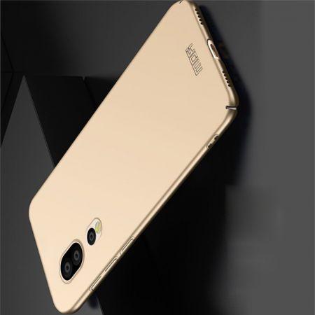 Ультратонкий Матовый Кейс Пластиковый Накладка Чехол для Huawei P20 Pro Золотой