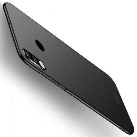 Ультратонкий Матовый Кейс Пластиковый Накладка Чехол для Huawei P30 Lite Черный