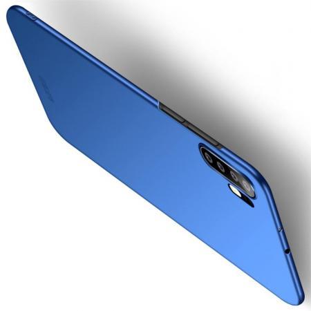 Ультратонкий Матовый Кейс Пластиковый Накладка Чехол для Huawei P30 Pro Синий