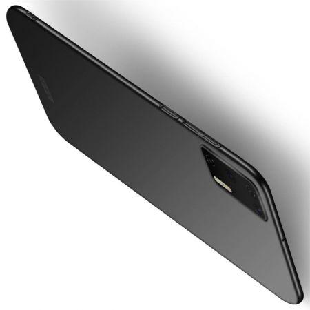 Ультратонкий Матовый Кейс Пластиковый Накладка Чехол для Huawei P40 Черный