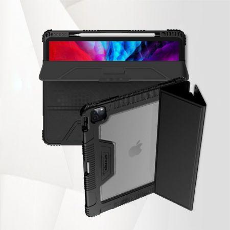 Ультратонкий Матовый Кейс Пластиковый Накладка Чехол для iPad Pro 12.9 2020 Черный