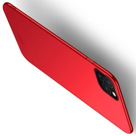 Ультратонкий Матовый Кейс Пластиковый Накладка Чехол для iPhone 11 Красный