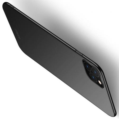 Ультратонкий Матовый Кейс Пластиковый Накладка Чехол для iPhone 11 Pro Черный