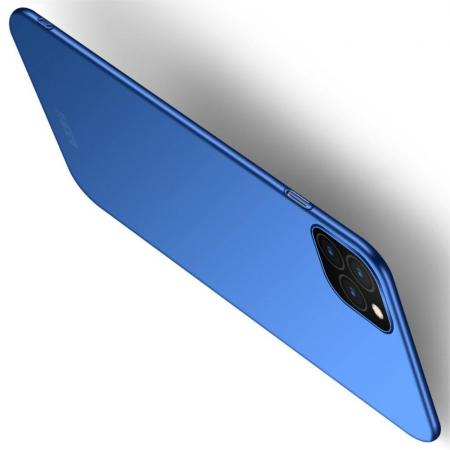 Ультратонкий Матовый Кейс Пластиковый Накладка Чехол для iPhone 11 Pro Синий