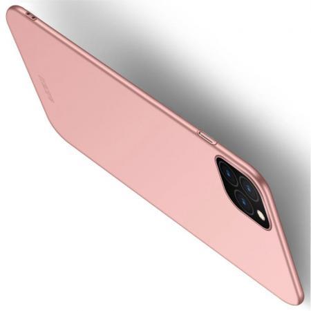 Ультратонкий Матовый Кейс Пластиковый Накладка Чехол для iPhone 11 Ярко-Розовый