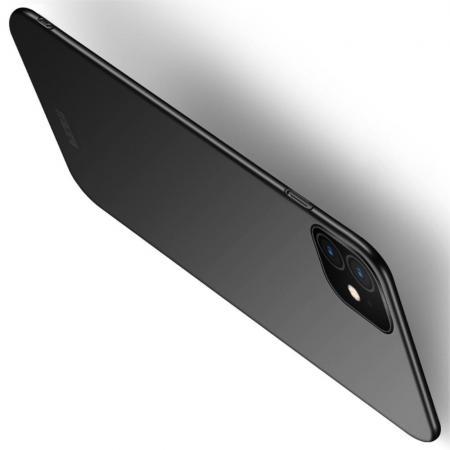 Ультратонкий Матовый Кейс Пластиковый Накладка Чехол для iPhone 11 Черный