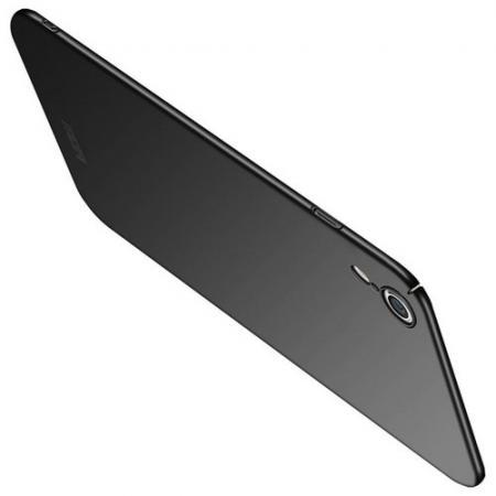Ультратонкий Матовый Кейс Пластиковый Накладка Чехол для iPhone XR Черный