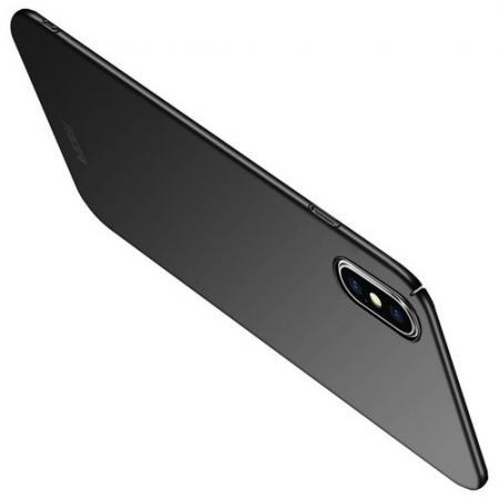 Ультратонкий Матовый Кейс Пластиковый Накладка Чехол для iPhone XS Max Черный
