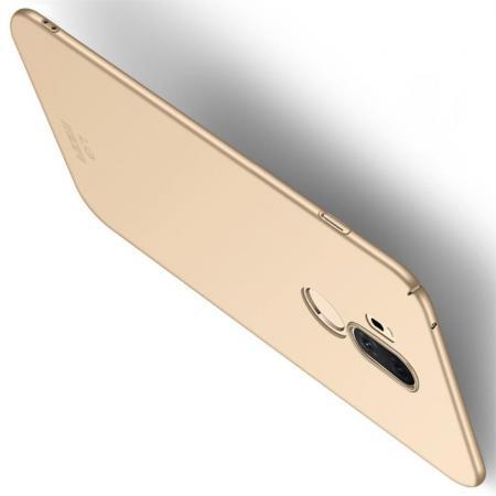 Ультратонкий Матовый Кейс Пластиковый Накладка Чехол для LG G7 ThinQ Золотой
