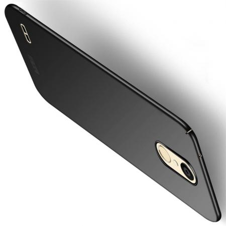 Ультратонкий Матовый Кейс Пластиковый Накладка Чехол для LG K11 Черный