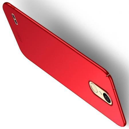 Ультратонкий Матовый Кейс Пластиковый Накладка Чехол для LG K11 Красный