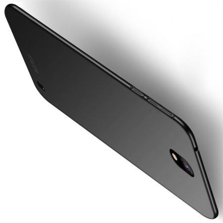 Ультратонкий Матовый Кейс Пластиковый Накладка Чехол для Nokia 1 Plus Черный