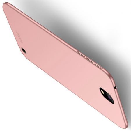 Ультратонкий Матовый Кейс Пластиковый Накладка Чехол для Nokia 1 Plus Розовое Золото