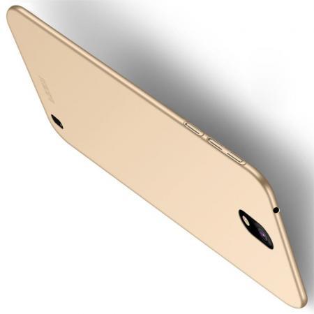 Ультратонкий Матовый Кейс Пластиковый Накладка Чехол для Nokia 1 Plus Золотой
