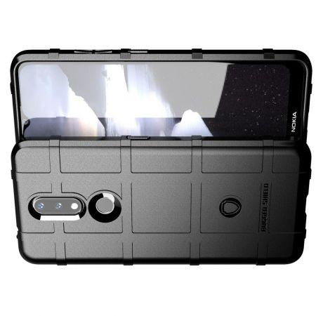 Матовый Кейс Накладка Чехол для Nokia 2.4 Черный