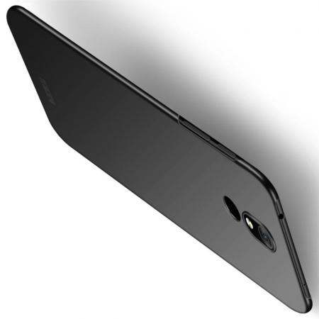 Ультратонкий Матовый Кейс Пластиковый Накладка Чехол для Nokia 3.2 Черный