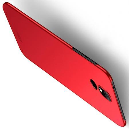 Ультратонкий Матовый Кейс Пластиковый Накладка Чехол для Nokia 3.2 Красный