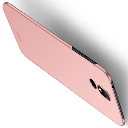 Ультратонкий Матовый Кейс Пластиковый Накладка Чехол для Nokia 3.2 Розовый