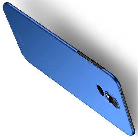 Ультратонкий Матовый Кейс Пластиковый Накладка Чехол для Nokia 3.2 Синий