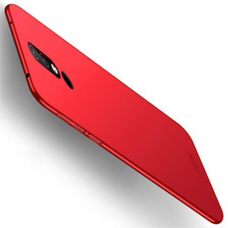 Ультратонкий Матовый Кейс Пластиковый Накладка Чехол для Nokia 4.2 Красный