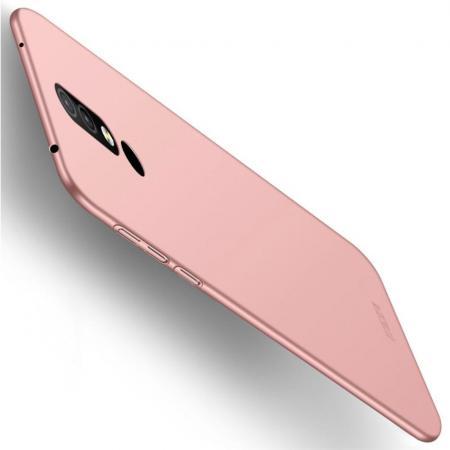 Ультратонкий Матовый Кейс Пластиковый Накладка Чехол для Nokia 4.2 Розовое золото