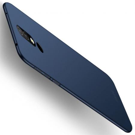 Ультратонкий Матовый Кейс Пластиковый Накладка Чехол для Nokia 4.2 Синий