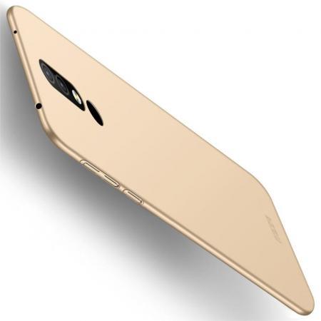 Ультратонкий Матовый Кейс Пластиковый Накладка Чехол для Nokia 4.2 Золотой