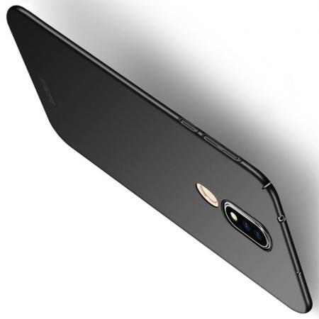 Ультратонкий Матовый Кейс Пластиковый Накладка Чехол для Nokia 6.1 Plus Черный
