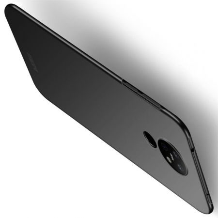 Ультратонкий Матовый Кейс Пластиковый Накладка Чехол для Nokia 6.2 Черный