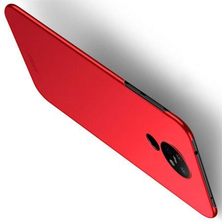 Ультратонкий Матовый Кейс Пластиковый Накладка Чехол для Nokia 6.2 Красный