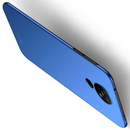 Ультратонкий Матовый Кейс Пластиковый Накладка Чехол для Nokia 6.2 Синий