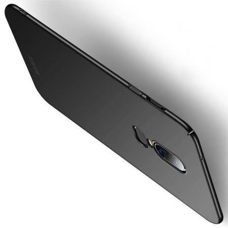 Ультратонкий Матовый Кейс Пластиковый Накладка Чехол для OnePlus 6 Черный