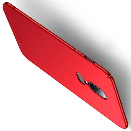 Ультратонкий Матовый Кейс Пластиковый Накладка Чехол для OnePlus 6 Красный