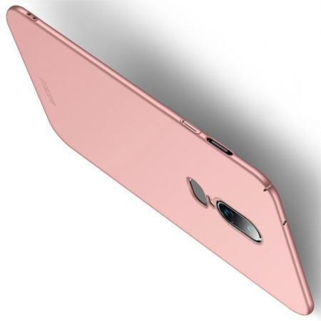 Ультратонкий Матовый Кейс Пластиковый Накладка Чехол для OnePlus 6 Розовое Золото