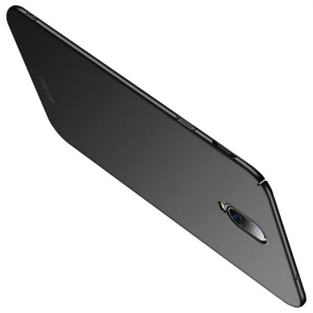 Ультратонкий Матовый Кейс Пластиковый Накладка Чехол для Oneplus 6T Черный