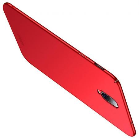 Ультратонкий Матовый Кейс Пластиковый Накладка Чехол для Oneplus 6T Красный