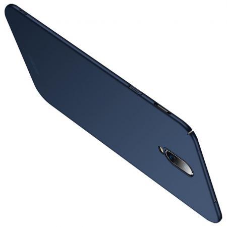 Ультратонкий Матовый Кейс Пластиковый Накладка Чехол для Oneplus 6T Синий