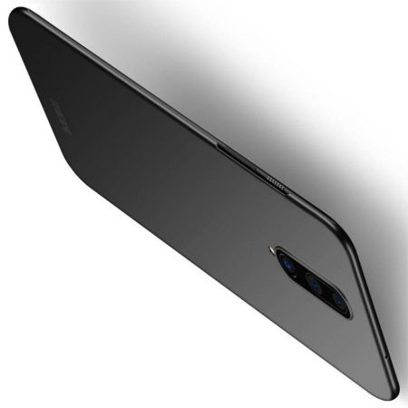 Ультратонкий Матовый Кейс Пластиковый Накладка Чехол для OnePlus 8 Черный