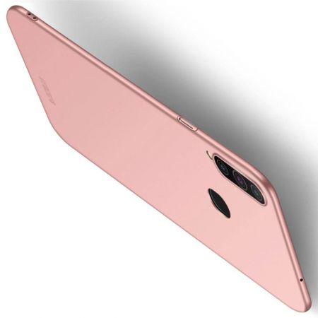 Ультратонкий Матовый Кейс Пластиковый Накладка Чехол для Samsung Galaxy A20s Розовый