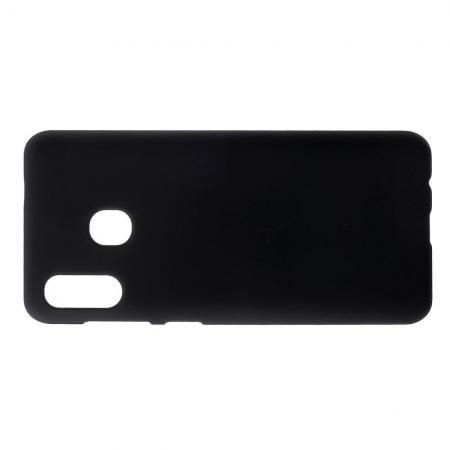 Ультратонкий Матовый Кейс Пластиковый Накладка Чехол для Samsung Galaxy A30 / A20 Черный