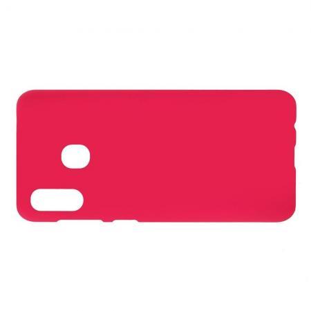Ультратонкий Матовый Кейс Пластиковый Накладка Чехол для Samsung Galaxy A30 / A20 Розовый