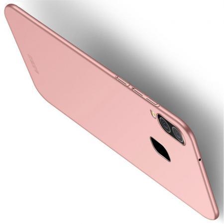 Ультратонкий Матовый Кейс Пластиковый Накладка Чехол для Samsung Galaxy A40 Розовое Золото