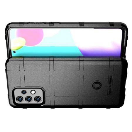 Матовый Кейс Накладка Чехол для Samsung Galaxy A52 Черный