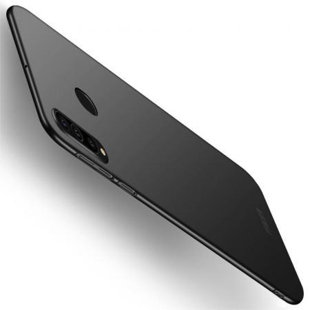 Ультратонкий Матовый Кейс Пластиковый Накладка Чехол для Samsung Galaxy A60 Черный
