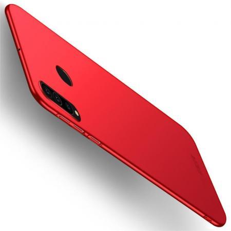 Ультратонкий Матовый Кейс Пластиковый Накладка Чехол для Samsung Galaxy A60 Красный