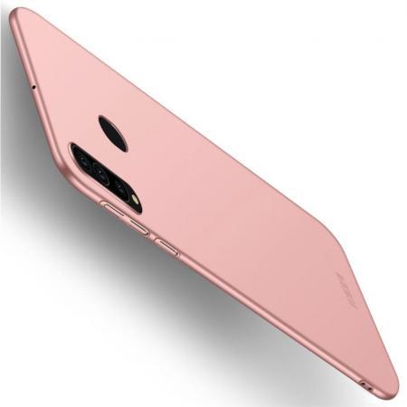 Ультратонкий Матовый Кейс Пластиковый Накладка Чехол для Samsung Galaxy A60 Розовое Золото
